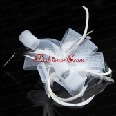 Elgant White Hair Tulle Feather Ornament  ACCHP081FOR