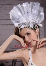 Exclusive Tulle Rhinestones Hand Made Flowers Hair Combs XTH103FOR