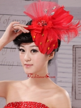 Fascinators Chiffon and Net Red Outdoor and Special Occasion XTH016FOR