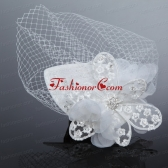 Fashionable Beading Tulle and Lace Hat Hair Ornament ACCHP059FOR