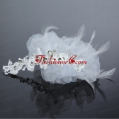 Fashionable Feather Tulle Rhinestone Fascinators for Women ACCHP039FOR