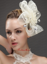 Fashionable Flower Shaped Fascinators Adorned With Imitation Pearls And Rhinestones UNION29T025FOR