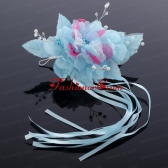Fashionable Pearl White and Blue Fascinators Hair Combs ACCHP002FOR