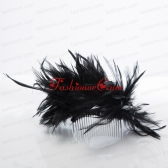 Feather Black Summer Hair Combs for Women ACCHP082FOR