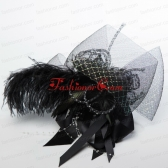 Gorgeous Feather Lace and Imitation Pearls Hair Ornament  ACCHP103FOR