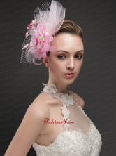 Gorgeous Net With Flowers Ribbons Women s Fascinators  UNION29T027FOR