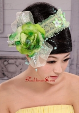 Green And Fresh Small Laurie Flowers Beading Fascinators For Party XTH100FOR