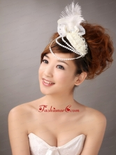 Hairpins Birdcage Veils Feather White Organza Special Occasion and Outdoor TH075FOR