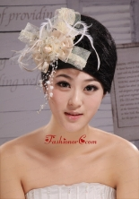 Headpieces Champagne Feathers With High Quality Best Sale 2013 XTH051FOR