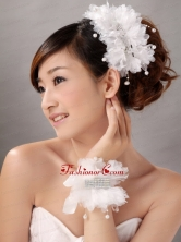 Imitation Pearls With Crystals Women s Fascinators Hairband And Wrist Corsage TH090FOR