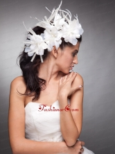 Lovely Headpieces Organza Hand Made Flowers  JDZH014FOR