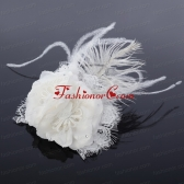 Lovely Lace Feather and Lace Outdoor Fascinators with Imitation Pearls ACCHP010FOR