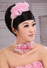 Lovely Organza and Lace Fascinators For Party XTH094FOR