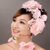 Lovely Taffeta Hand Made Flowers Beading Lace Fascinators TH019FOR