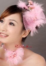 Lovely Tulle Feather Flower Womens Fascinators TH030FOR
