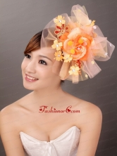 Net Yarn Briadl Hat Beaded Special Occasion Fascinators TH012FOR