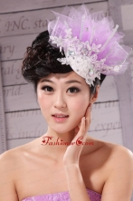 New Headpieces Rhinestone Lavender Net Beading For Party  XTH037FOR