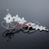 Nobile Alloy Silver Rhinestone Hair Ornament for Wedding ACCHP052FOR