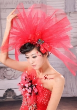 Perfect Beading Net Yarn Bridal Fascinators XTH023FOR