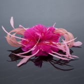 Pretty Pink Tulle Feather Flower Hairpin for Wedding ACCHP094FOR