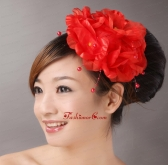 Red Imitation Pearls Headpieces For Party TH045FOR