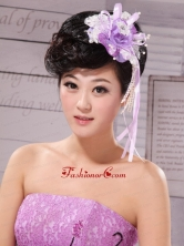 Side Clamp Flower and Lace Taffeta For Wedding Party XTH035FOR