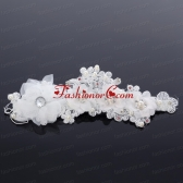 Simple Hairpins Imitation Pearls Birdcage Veils in White ACCHP012FOR