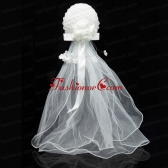 Simple Organza White Fascinators for Wedding ACCHP089FOR