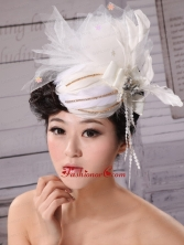 Special Hat Hairpin Tulle Beading Outdoor and Wedding XTH008FOR