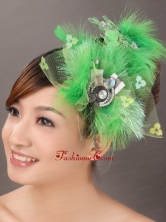 Spring Green Rhinestone Special Occasion Fascinators TH003FOR