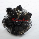 Summer Black Tulle Fascinators with Pearl ACCHP090FOR
