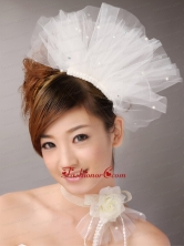 Tulle Hair Combs Imitation Pearls Wedding and Special Occasion TH083FOR