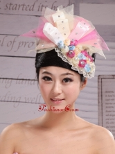 Tulle and Bud Silk Headdress Flower With Beading For Bride New Arrival XTH057FOR