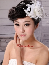 Tulle and Chiffon With Imitation Pearls Fascinators Pure Wedding and Outdoor XTH005FOR