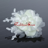 Tulle and Lace Wedding Fascinators with Imitation Pearls ACCHP027FOR
