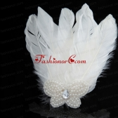 Unique White Pearl Feather for Wedding ACCHP075FOR