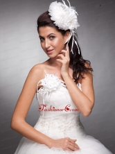 White Beaded Hand Made Flowers Headpieces And Corsage JDZH06FOR