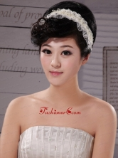 White Imitation Pearls Lace Special Occasion Fascinators XTH012FOR