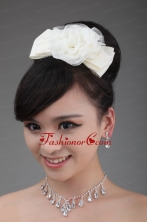 White Tulle Cheap Hairpins Birdcage Veils with Lace ACCHP071FOR