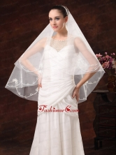 2 Layers Discount Tulle Bridal Veil For Wedding HM4400FOR
