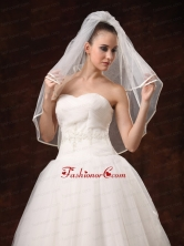 2 Layers Elbow Length Beautiful Wedding Veil HM6080FOR