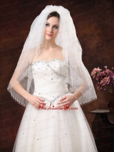 2012 Inspired 4 Layer White Bridal Veil On Sale HM5823-4FOR