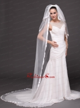3 Layers and Appliques Ball Gown Bridal Veils For Wedding HM8815FOR