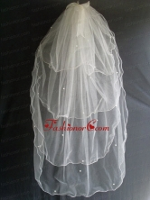 Beading Four Layers Tulle Fashionable Wedding Veil RR111603FOR