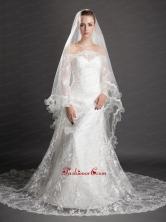 Beading Tulle Graceful Wedding Veil UNION29T014FOR