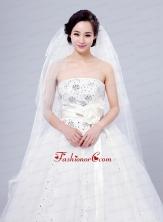 Cheap Four-Tier Cut Edge Drop Veil Wedding Veils ACCWEIL032FOR