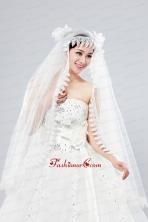 Cheap One-Tier Lace Edge Drop Veil Wedding Veils ACCWEIL015FOR