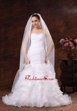 Classical White Organza Veil For Wedding HM8231FOR