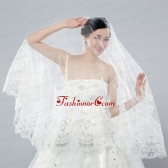 Discount Two-Tier Classic Wedding Veils with Lace Edge ACCWEIL021FOR