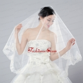 Eelgant One-Tier Angle Cut Bridal Veils with Lace Edge ACCWEIL008FOR